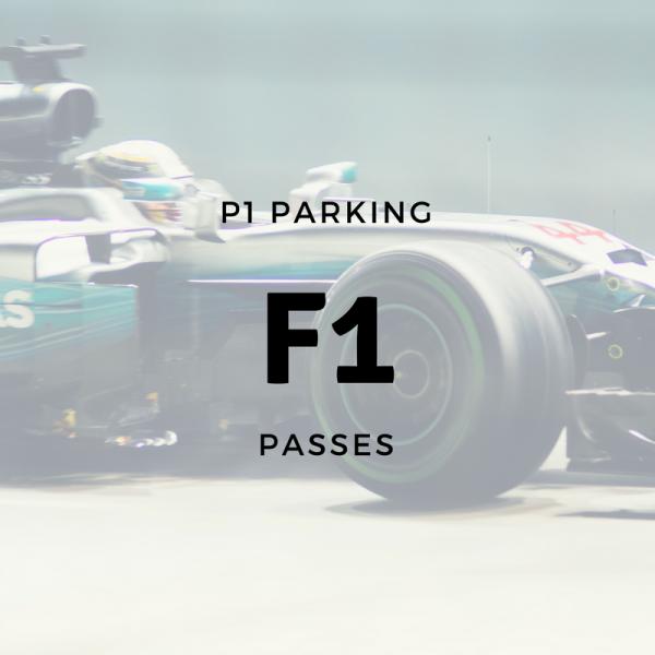 P1 Parking F1 Grand Prix Passes